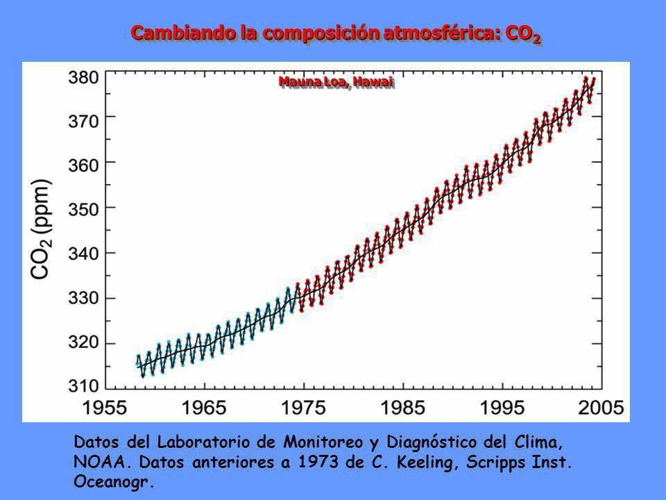 Cambiando la composición atmosférica: CO2
