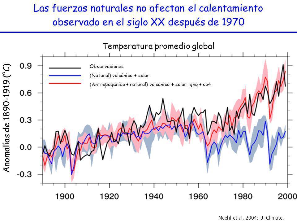 Las fuerzas naturales no afectan el calentamiento observado en el siglo XX después de 1970