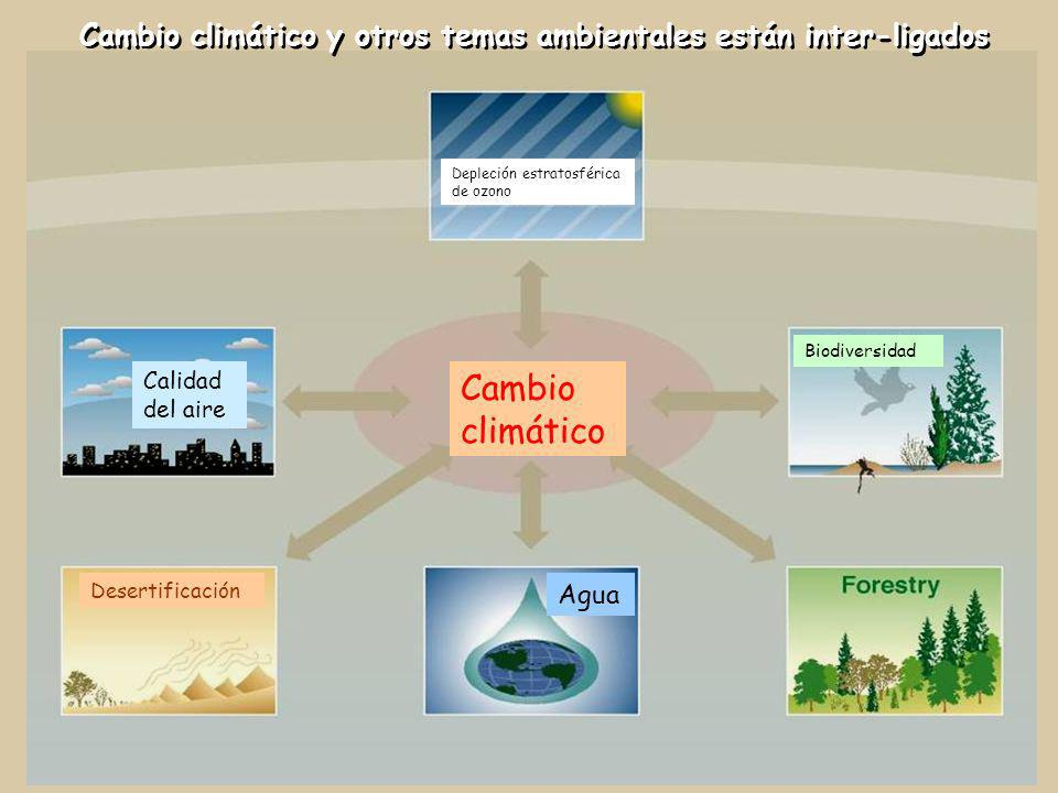 Cambio climático y otros temas ambientales están inter-ligados
