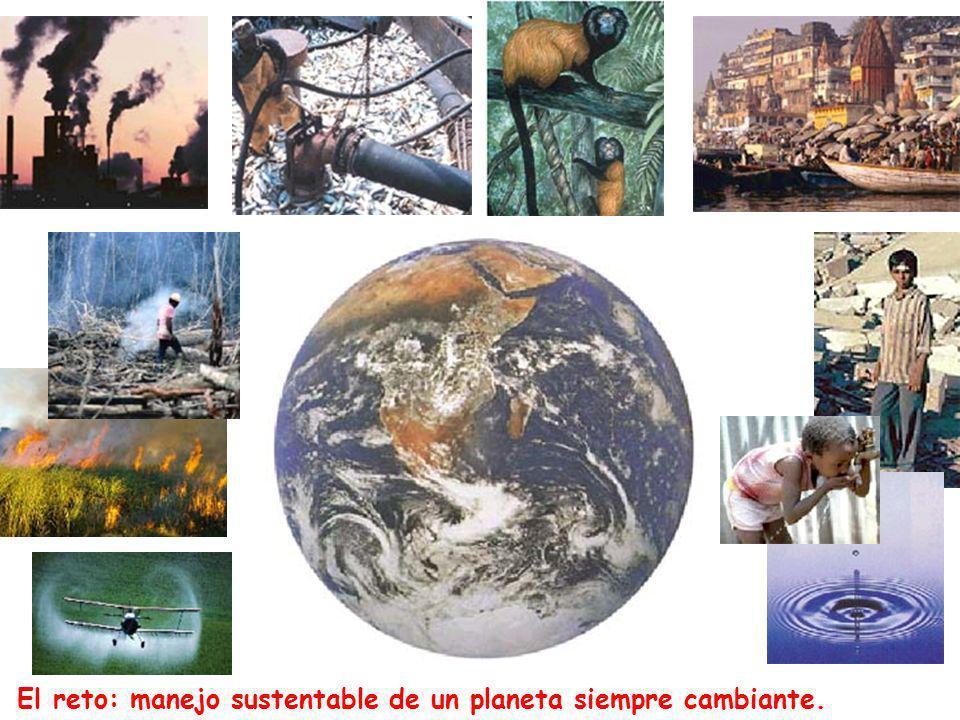 El reto: manejo sustentable de un planeta siempre cambiante.