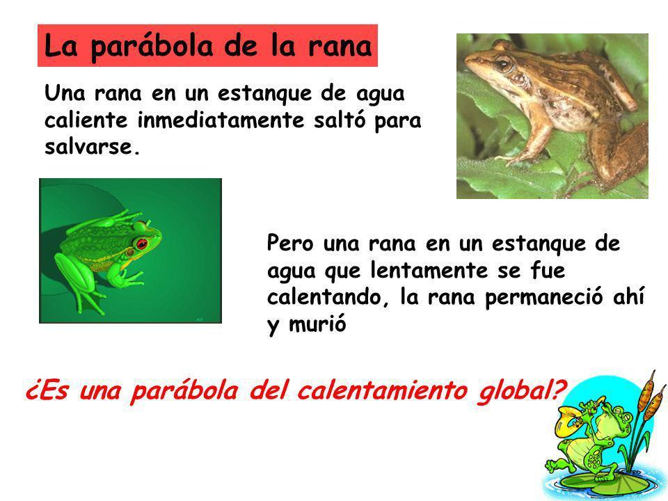 La parábola de la rana ¿Es una parábola del calentamiento global