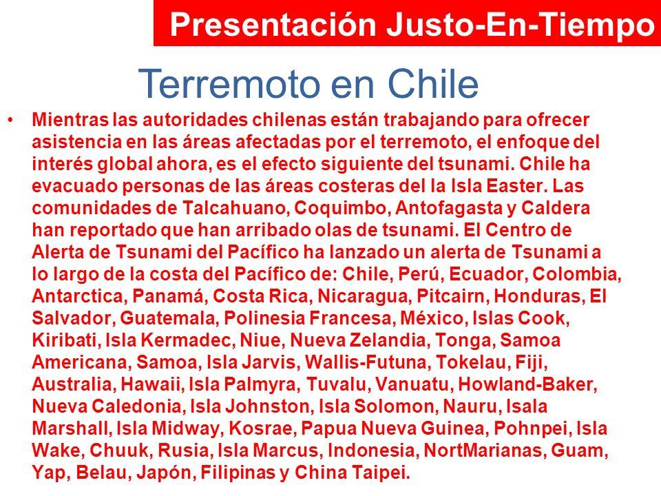 Terremoto en Chile Presentación Justo-En-Tiempo