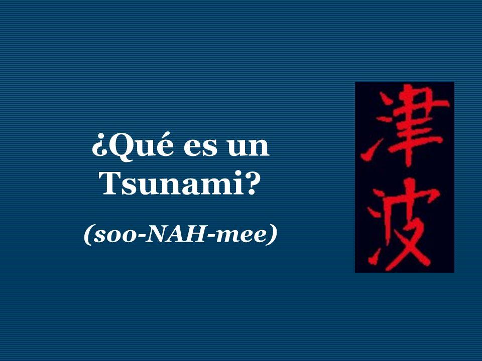 ¿Qué es un Tsunami (soo-NAH-mee)