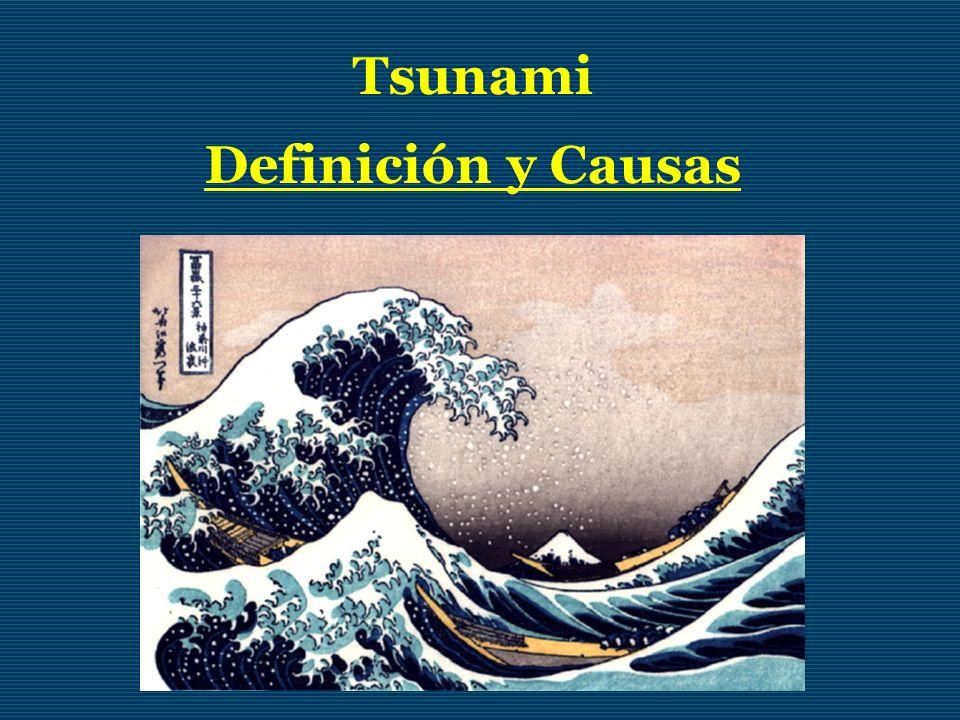 Tsunami Definición y Causas