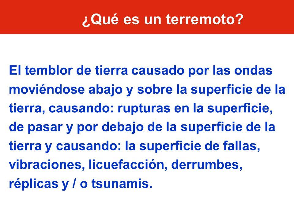 ¿Qué es un terremoto