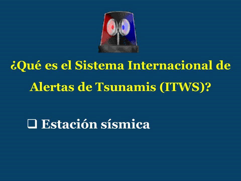 ¿Qué es el Sistema Internacional de Alertas de Tsunamis (ITWS)
