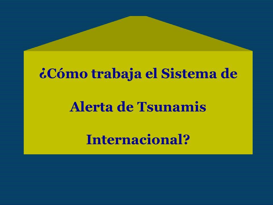 ¿Cómo trabaja el Sistema de Alerta de Tsunamis Internacional