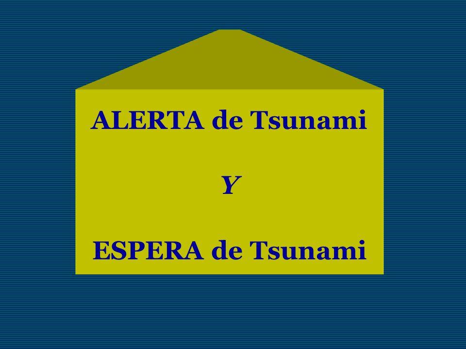 ALERTA de Tsunami Y ESPERA de Tsunami