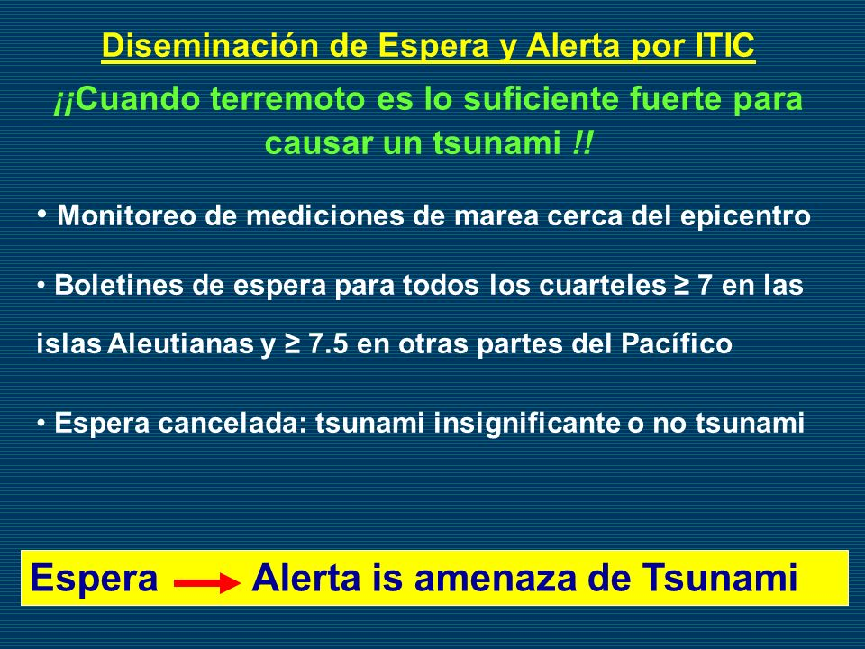 Espera Alerta is amenaza de Tsunami