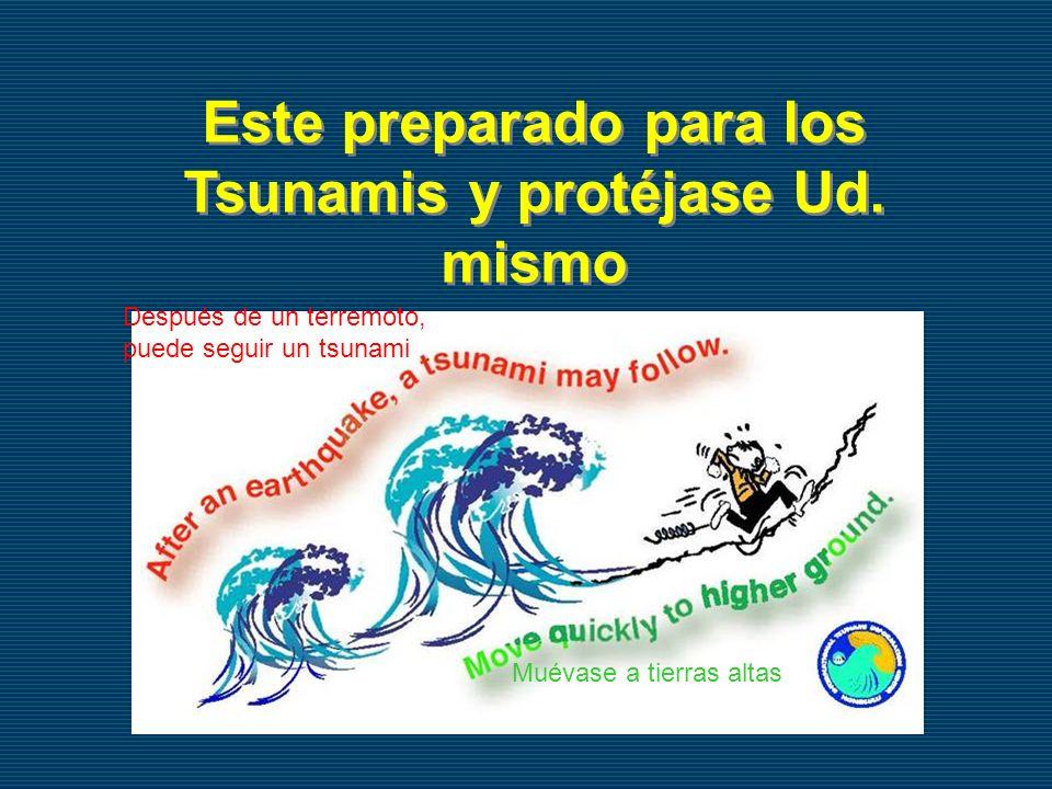 Este preparado para los Tsunamis y protéjase Ud. mismo