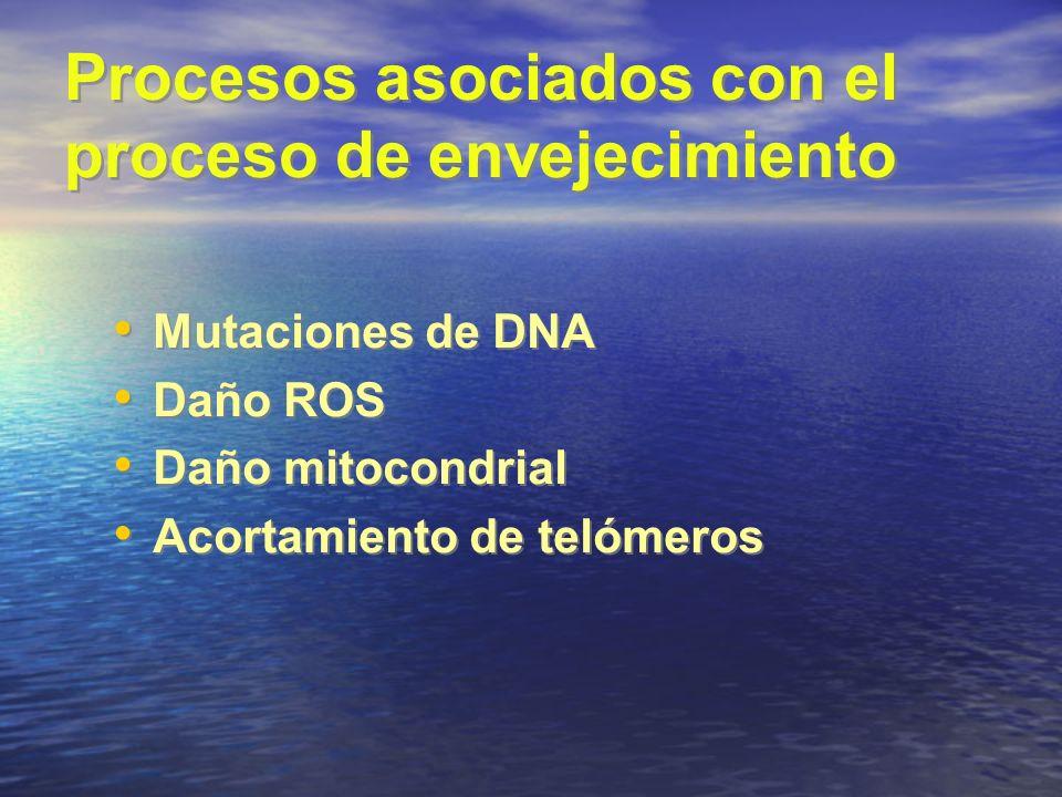Procesos asociados con el proceso de envejecimiento