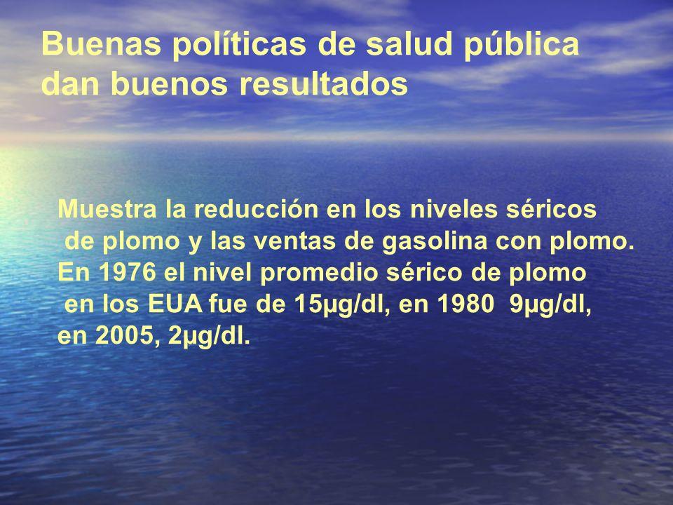 Buenas políticas de salud pública dan buenos resultados
