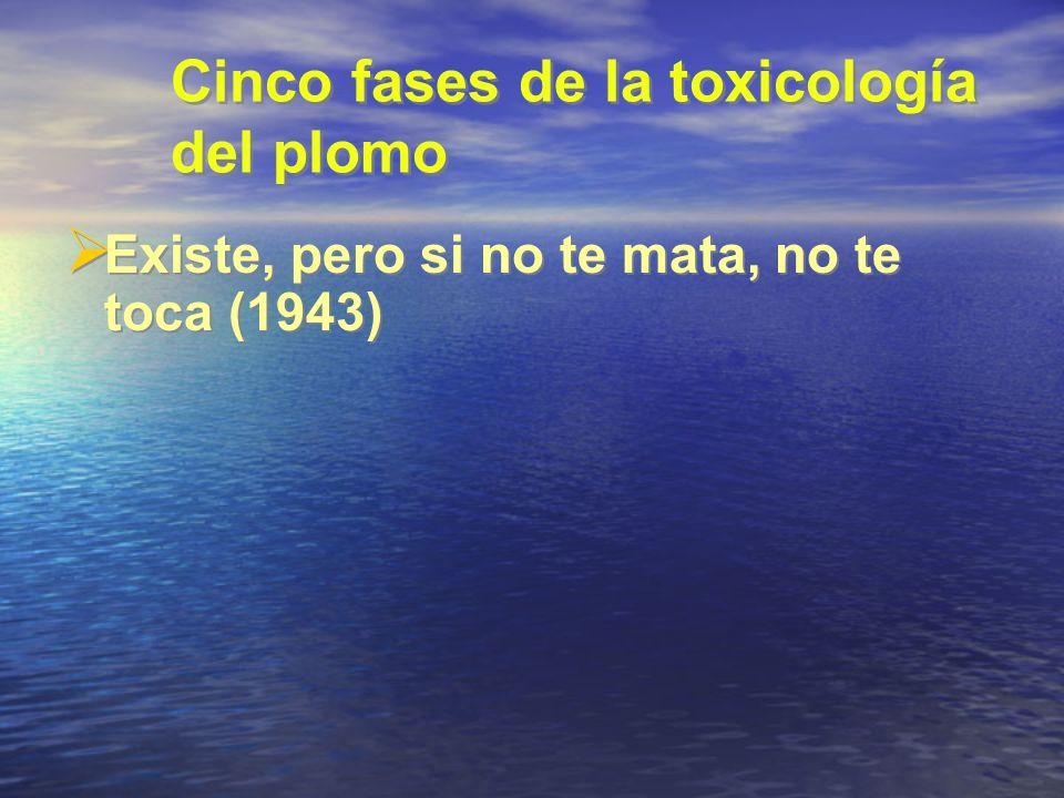 Cinco fases de la toxicología del plomo