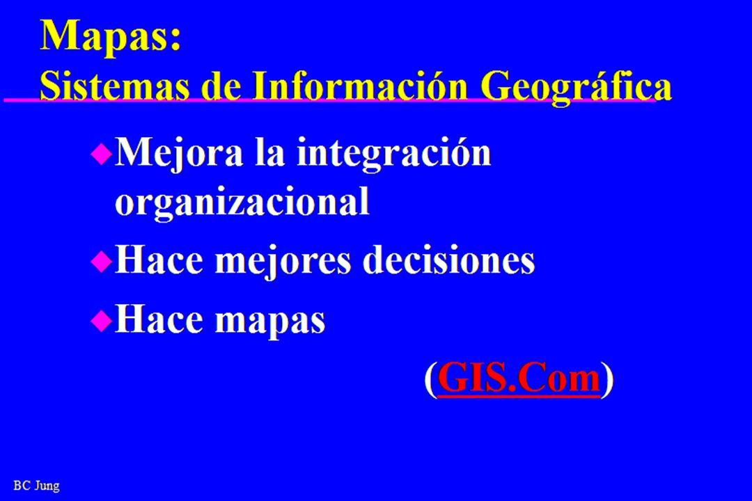 Mapas: Sistemas de Información Geográfica