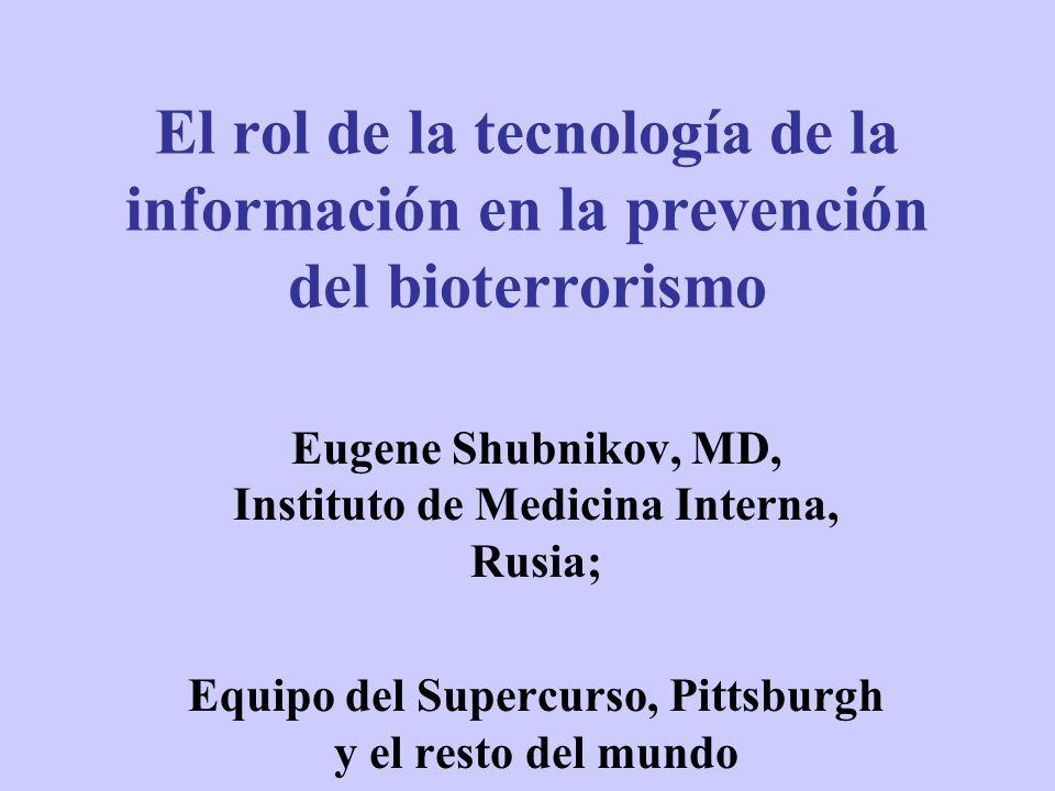 El rol de la tecnología de la información en la prevención del bioterrorismo
