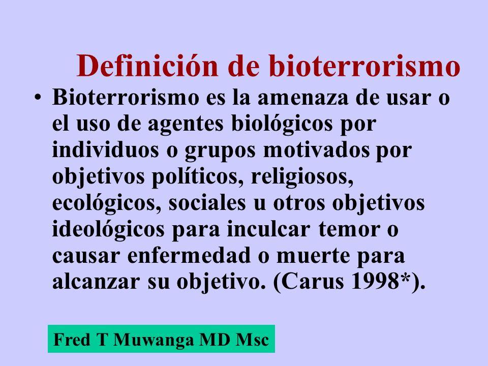 Definición de bioterrorismo