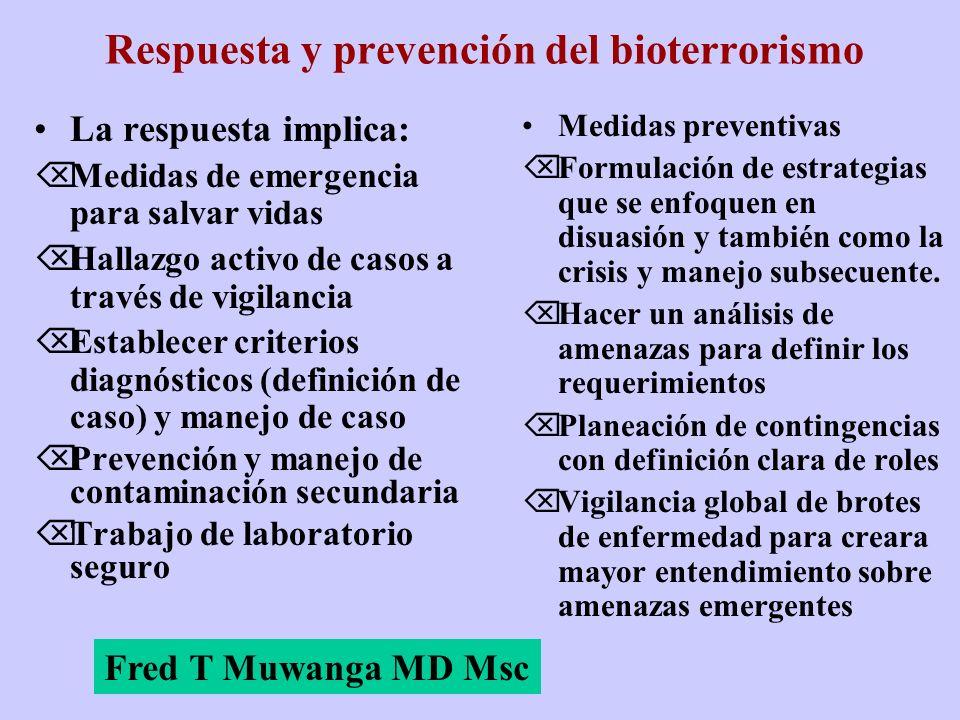 Respuesta y prevención del bioterrorismo