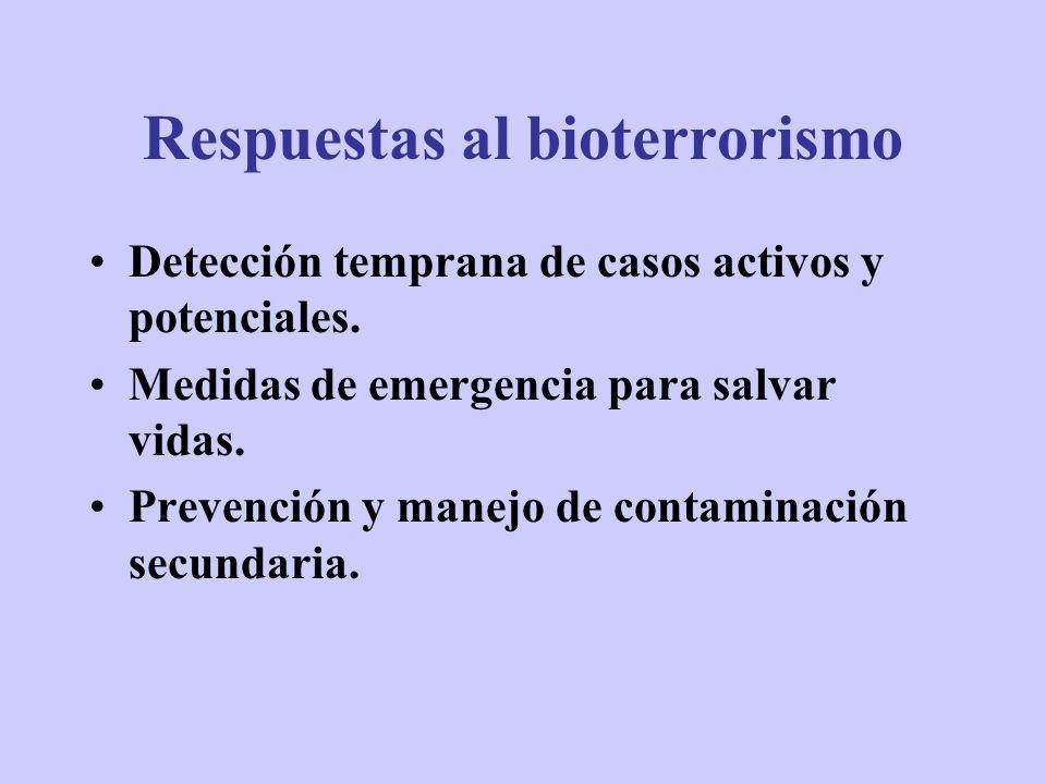 Respuestas al bioterrorismo