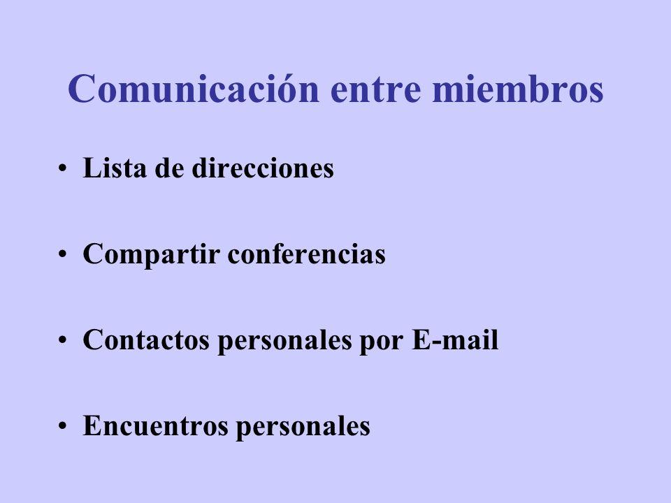 Comunicación entre miembros