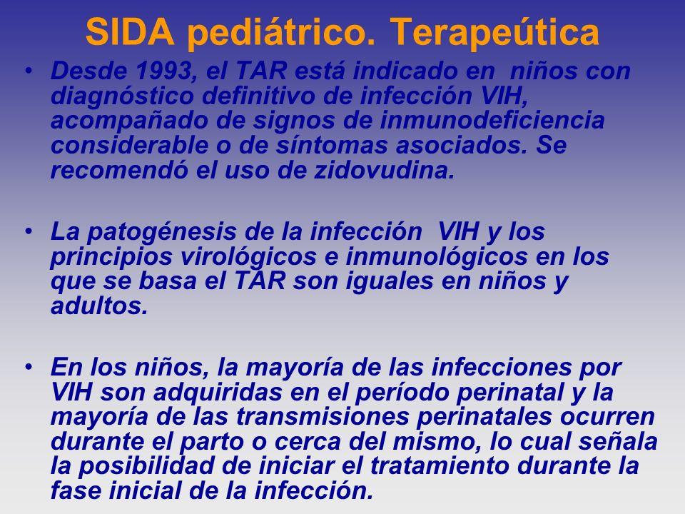 SIDA pediátrico. Terapeútica