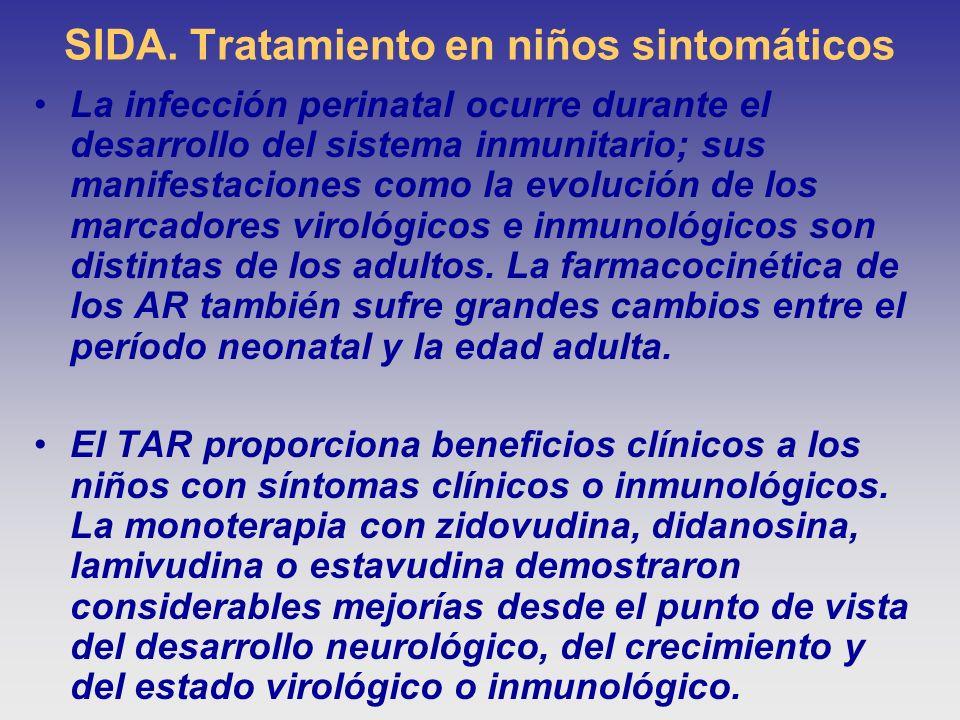 SIDA. Tratamiento en niños sintomáticos