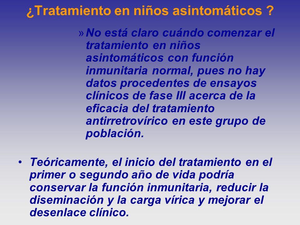¿Tratamiento en niños asintomáticos