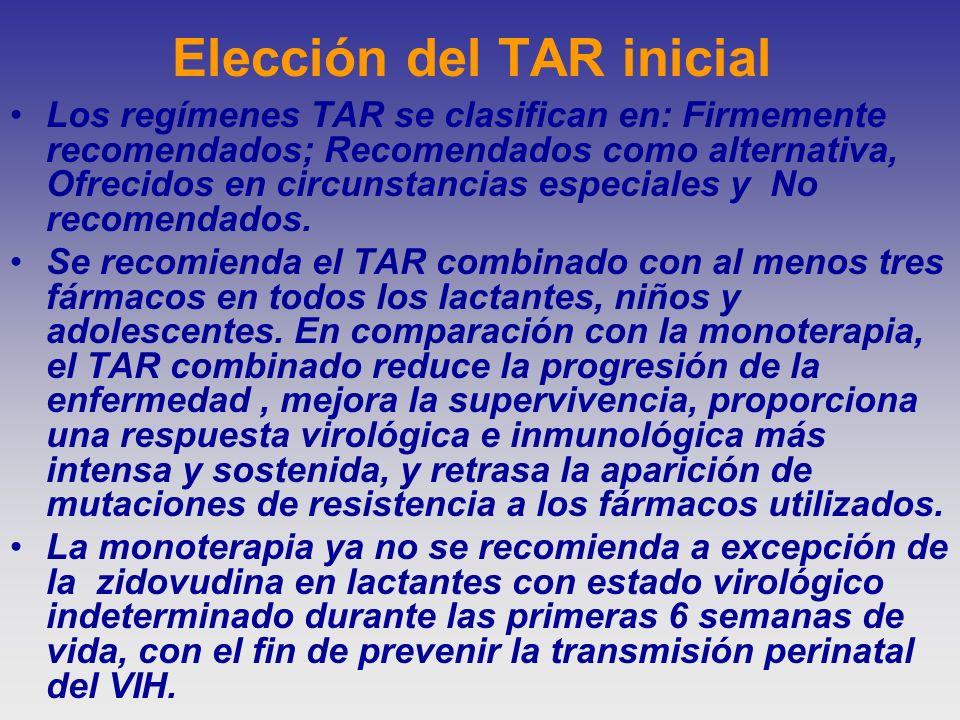 Elección del TAR inicial