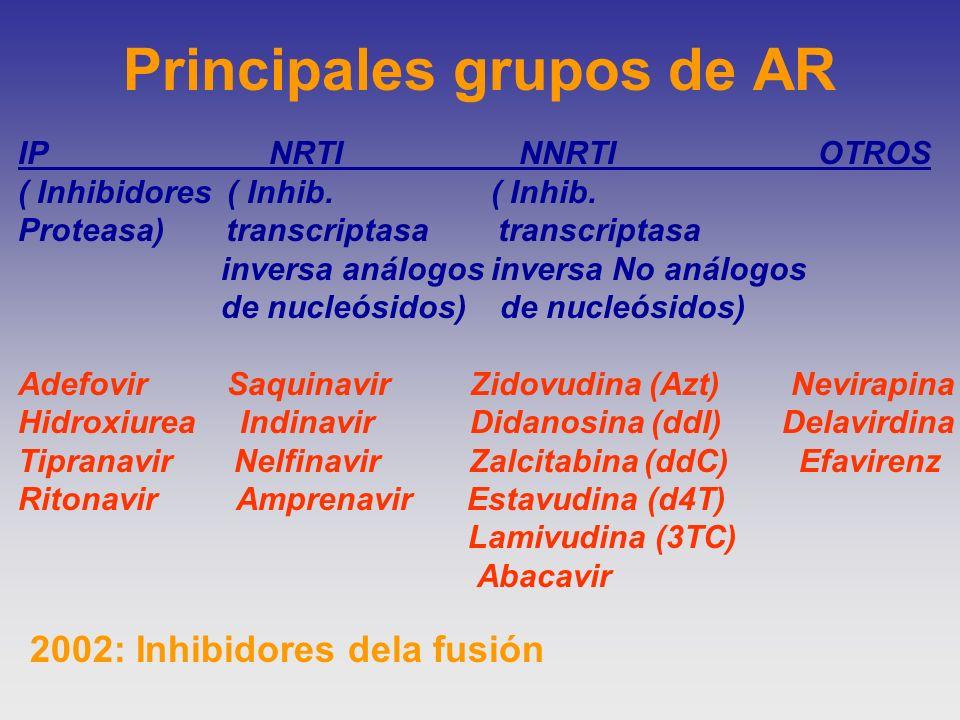 Principales grupos de AR