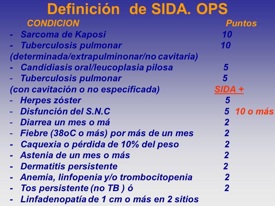 Definición de SIDA. OPS - Sarcoma de Kaposi 10