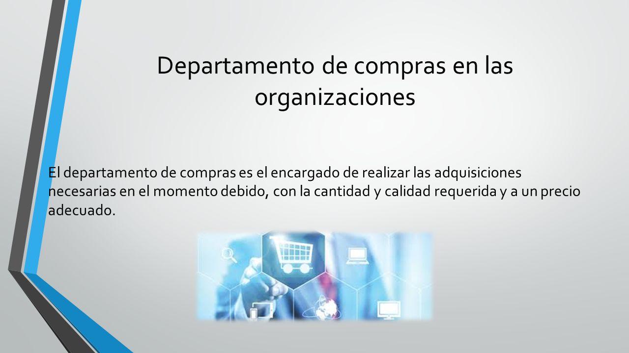 Departamento de compras en las organizaciones