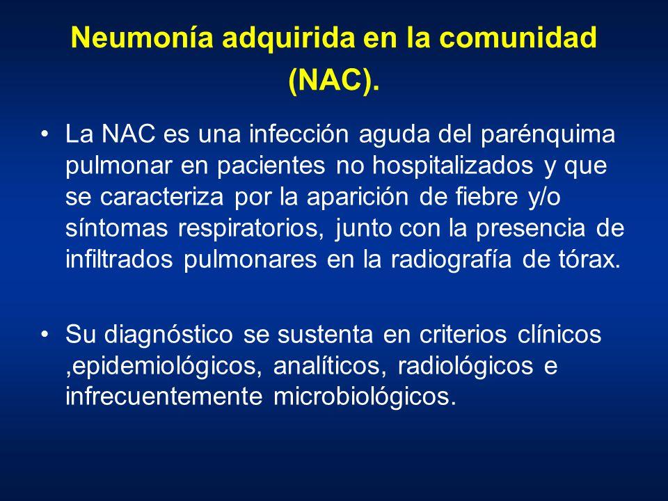 Neumonía adquirida en la comunidad (NAC).