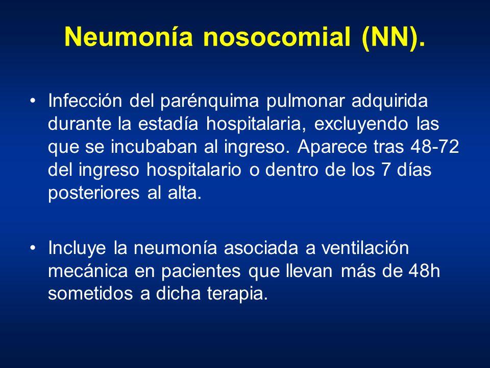 Neumonía nosocomial (NN).