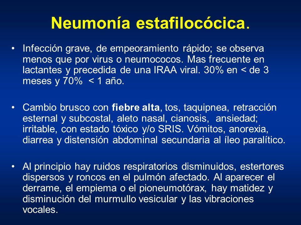 Neumonía estafilocócica.