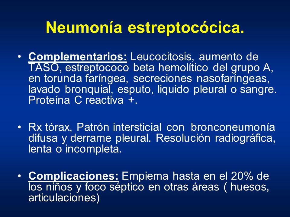 Neumonía estreptocócica.