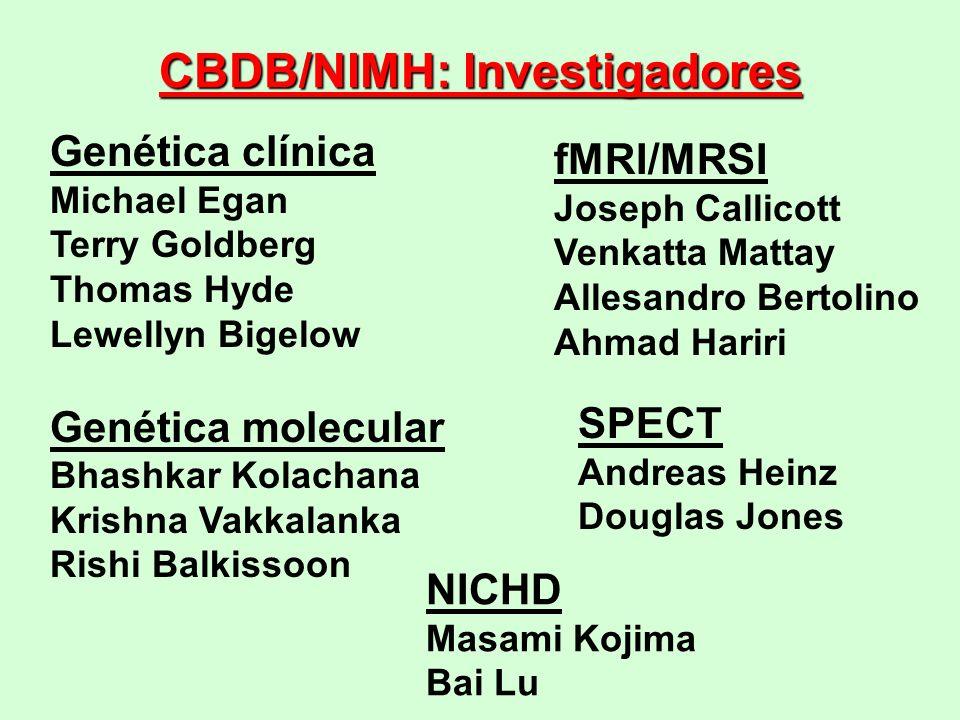 CBDB/NIMH: Investigadores