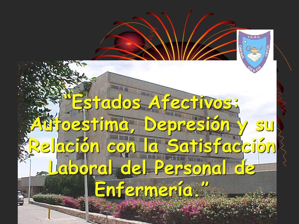 Estados Afectivos: Autoestima, Depresión y su Relación con la Satisfacción Laboral del Personal de Enfermería.