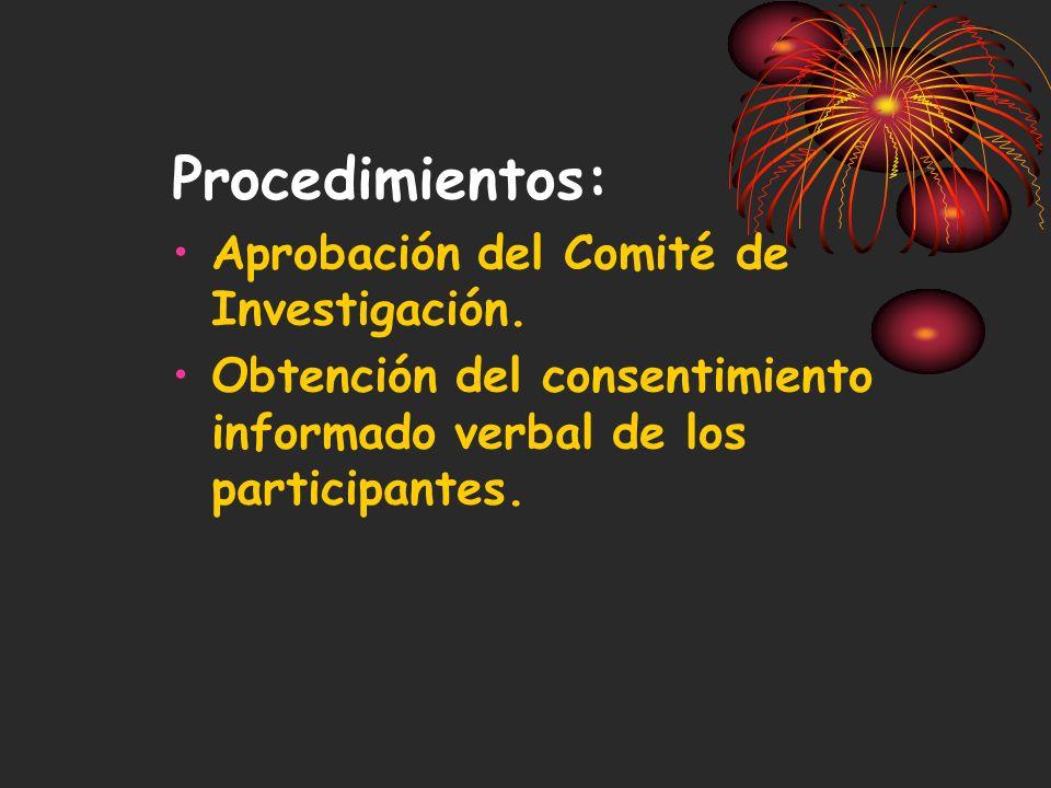 Procedimientos: Aprobación del Comité de Investigación.