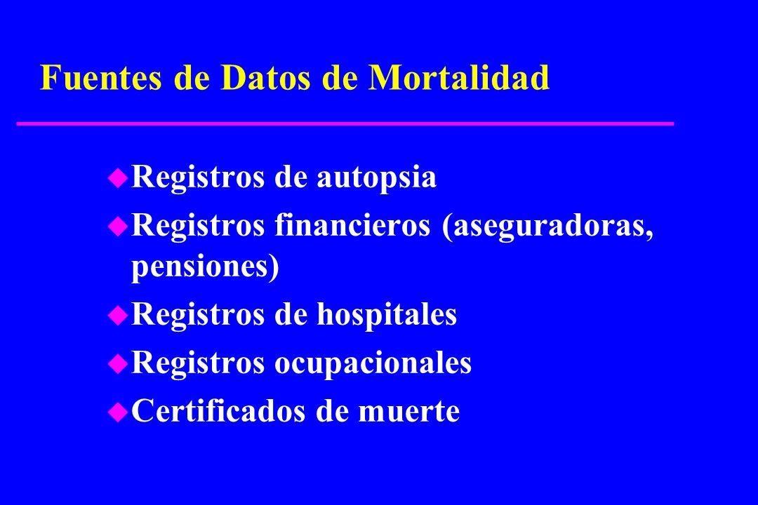 Fuentes de Datos de Mortalidad