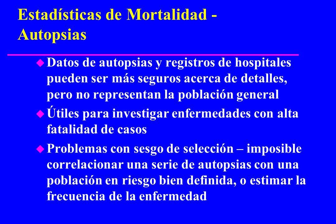 Estadísticas de Mortalidad - Autopsias