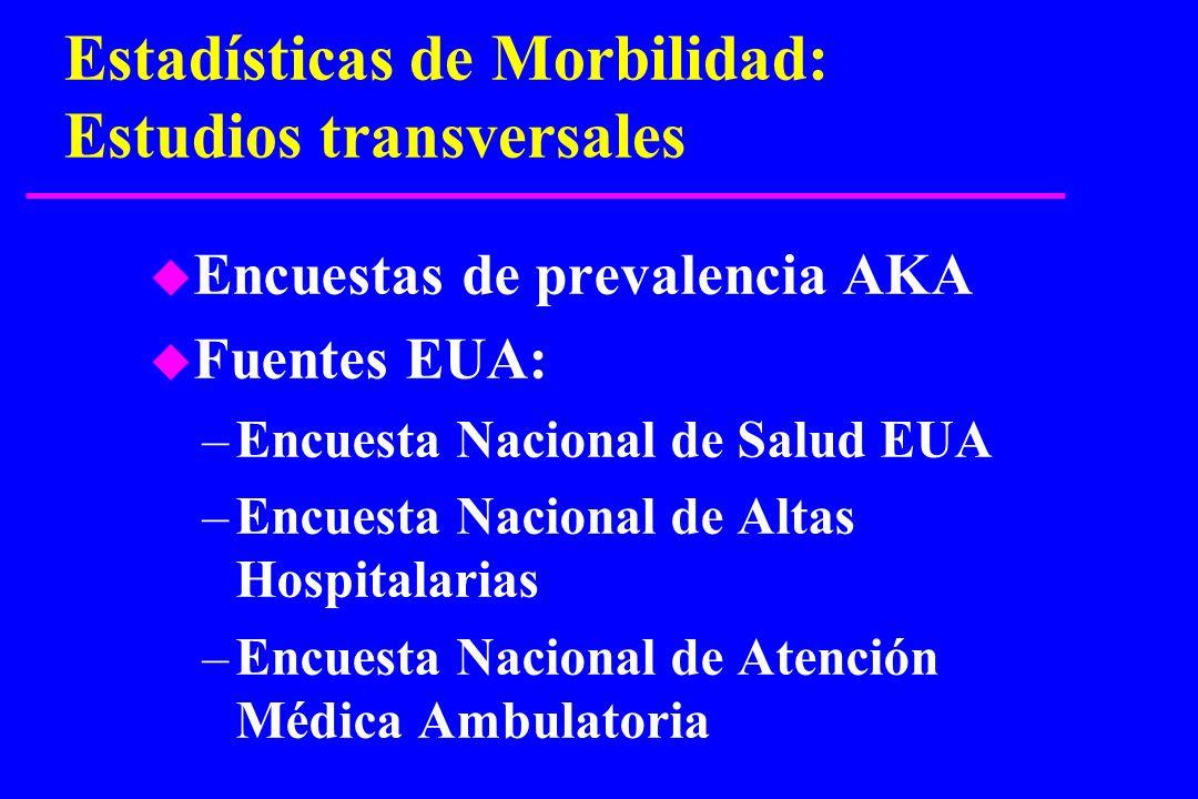 Estadísticas de Morbilidad: Estudios transversales