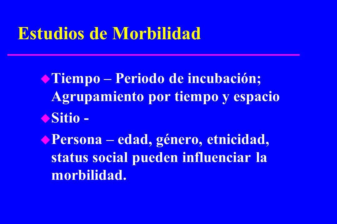 Estudios de Morbilidad