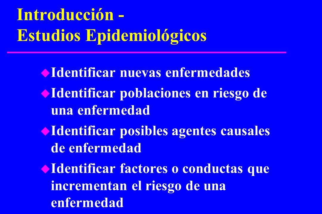 Introducción - Estudios Epidemiológicos