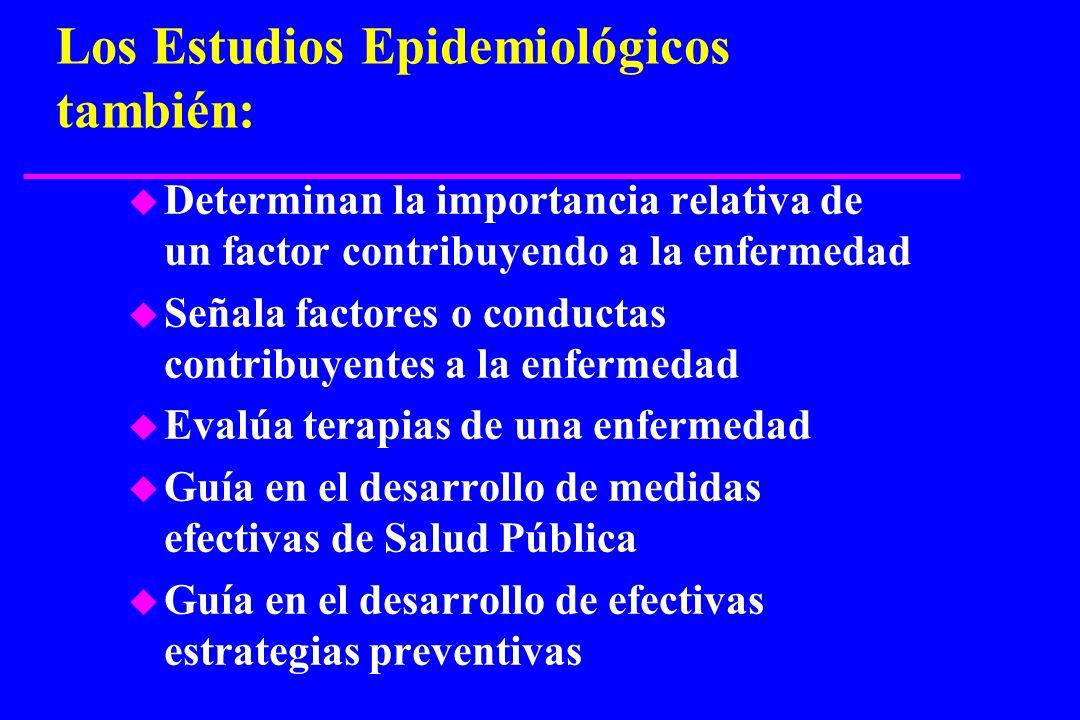 Los Estudios Epidemiológicos también:
