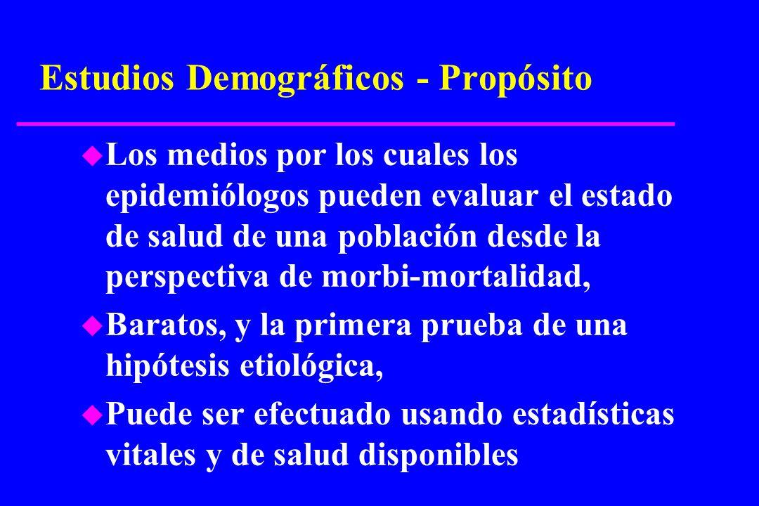 Estudios Demográficos - Propósito