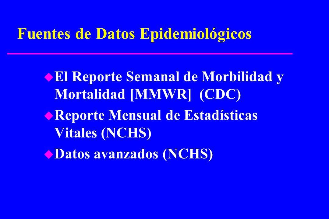 Fuentes de Datos Epidemiológicos