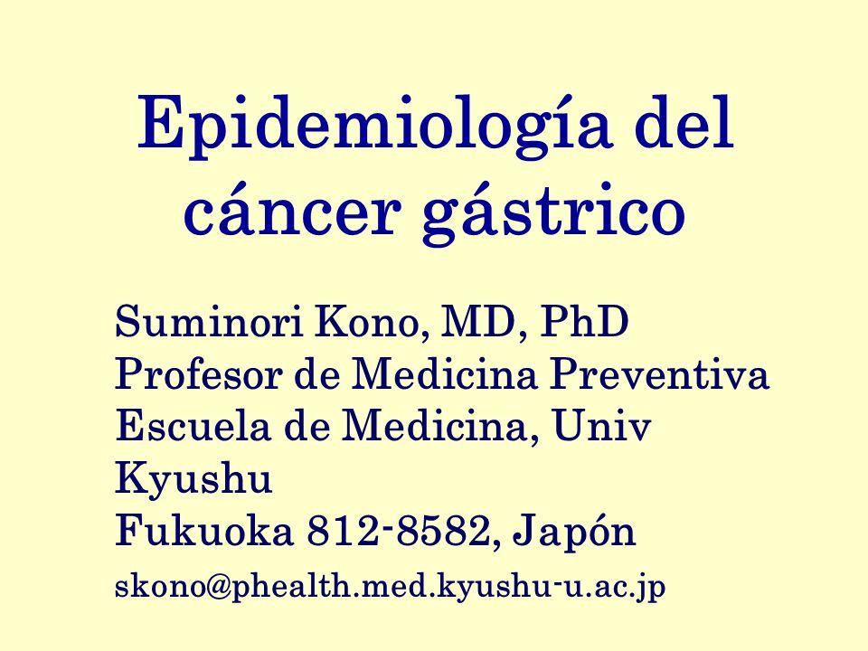 Epidemiología del cáncer gástrico