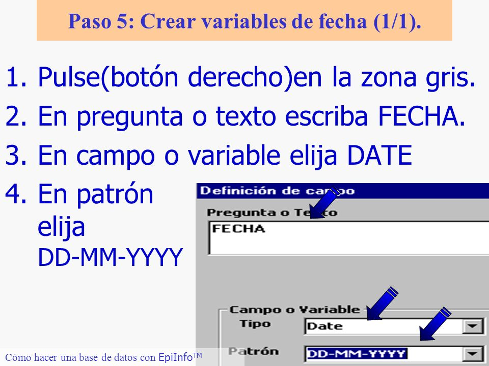 Paso 5: Crear variables de fecha (1/1).