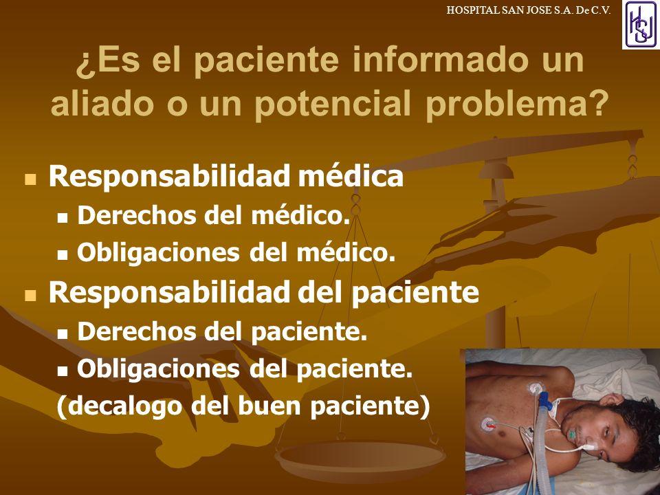¿Es el paciente informado un aliado o un potencial problema