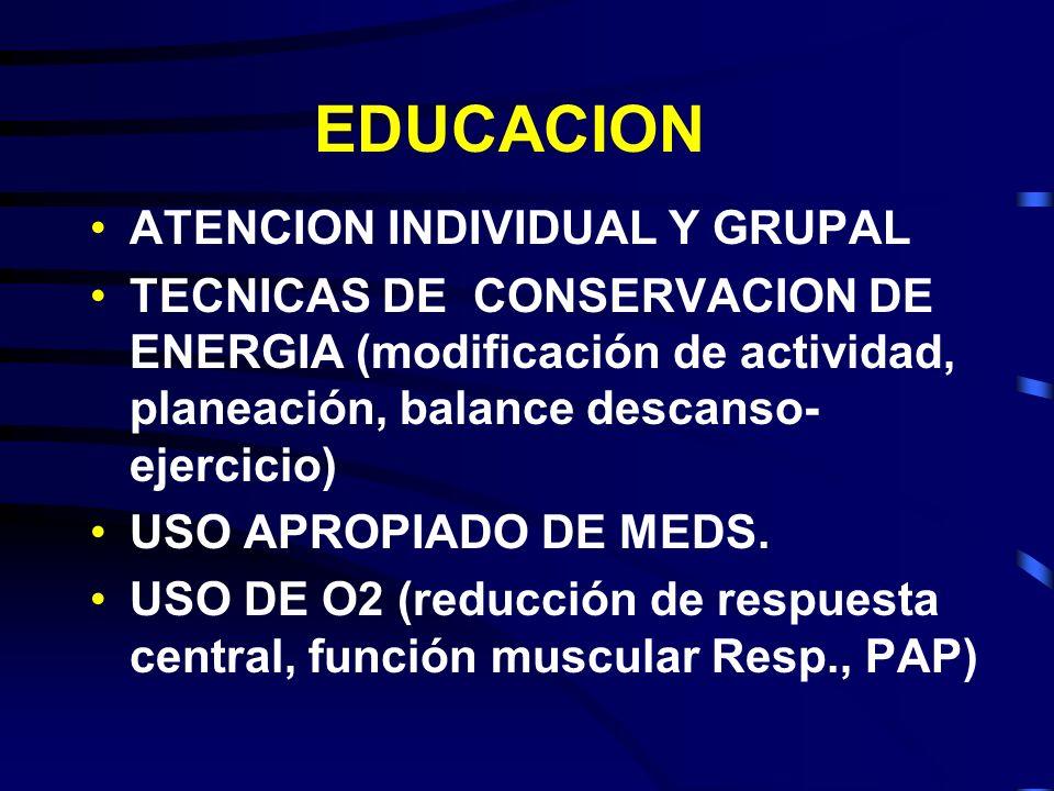 EDUCACION ATENCION INDIVIDUAL Y GRUPAL