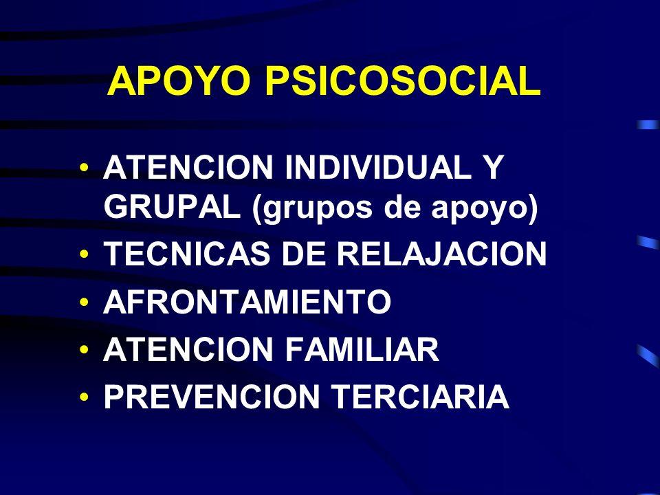 APOYO PSICOSOCIAL ATENCION INDIVIDUAL Y GRUPAL (grupos de apoyo)